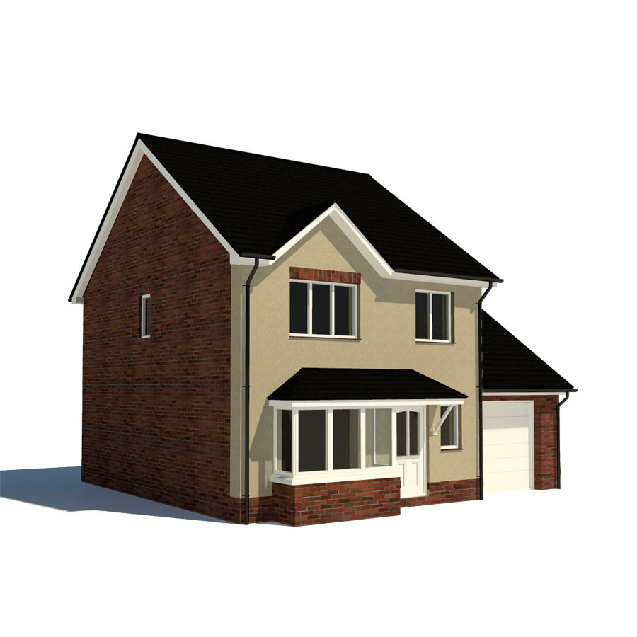 House 3d model 15 ma obj free3d for Free 3d house models