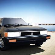 Honda Accord 1982 (OBJ+C4D) 3d model