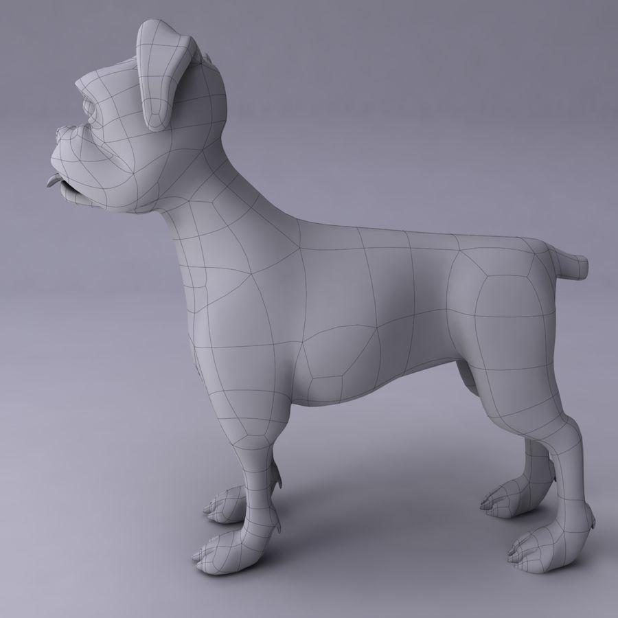Cão dos desenhos animados royalty-free 3d model - Preview no. 11