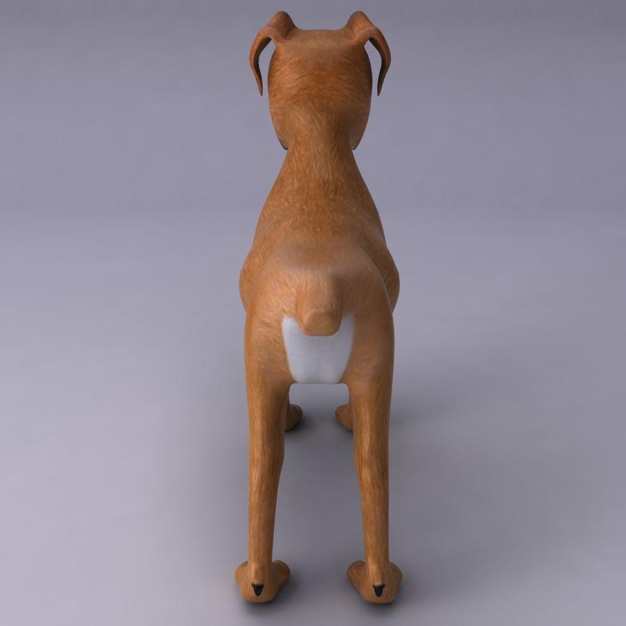 Cão dos desenhos animados royalty-free 3d model - Preview no. 6