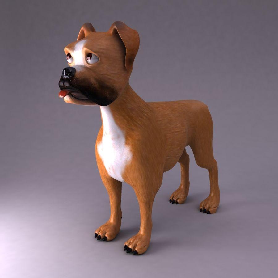 Cão dos desenhos animados royalty-free 3d model - Preview no. 3