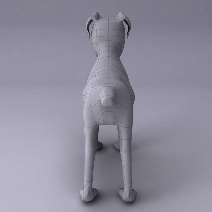 Cão dos desenhos animados royalty-free 3d model - Preview no. 12