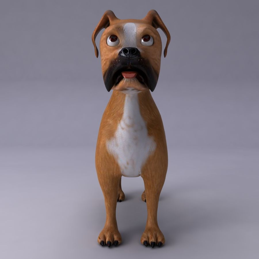 Cão dos desenhos animados royalty-free 3d model - Preview no. 4