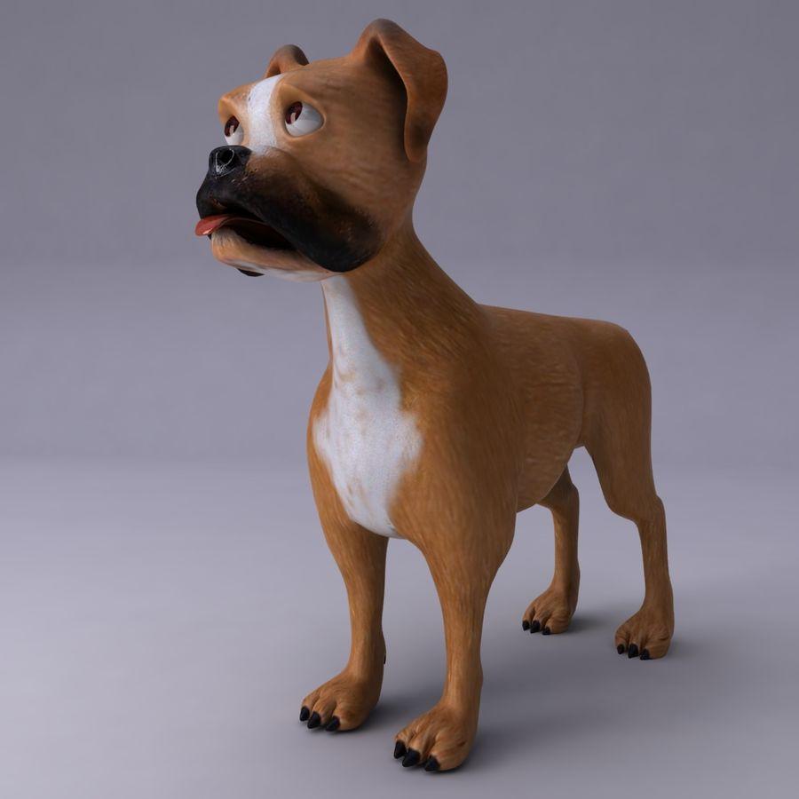 Cão dos desenhos animados royalty-free 3d model - Preview no. 2