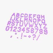 Einfaches Alphabet 3D 3d model