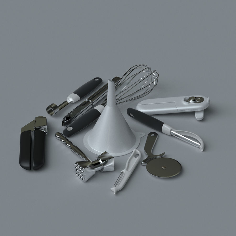Küchenzubehör royalty-free 3d model - Preview no. 1