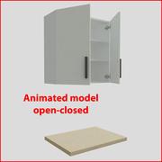 厨房家具垂直80厘米门 3d model
