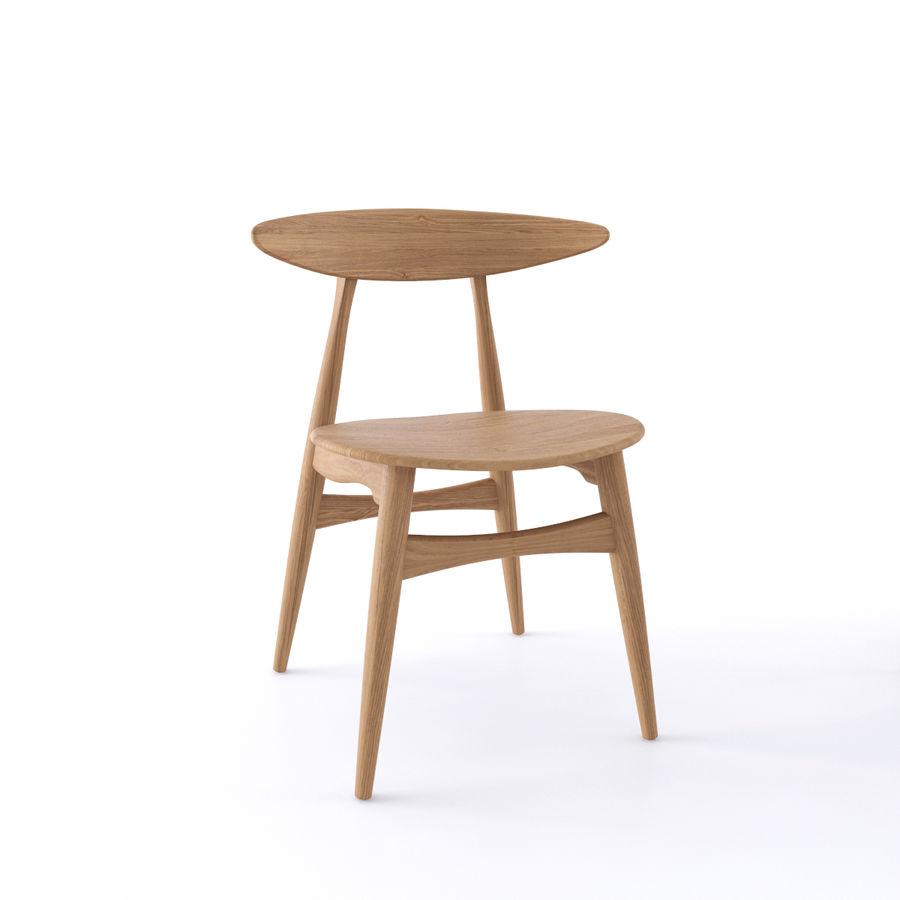 Cadeira CH33 por Hans Wegner royalty-free 3d model - Preview no. 3