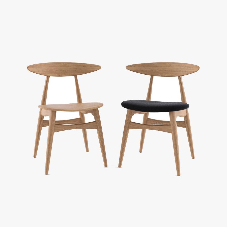 Cadeira CH33 por Hans Wegner royalty-free 3d model - Preview no. 1