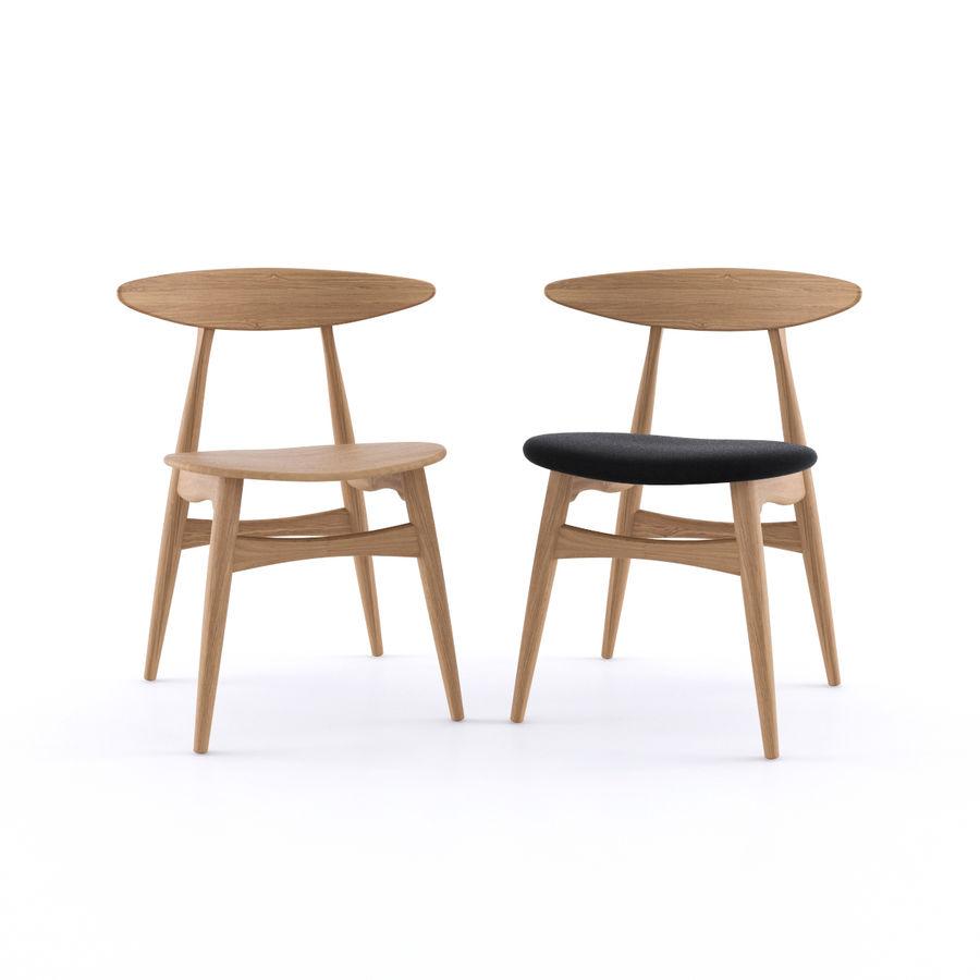 Cadeira CH33 por Hans Wegner royalty-free 3d model - Preview no. 2