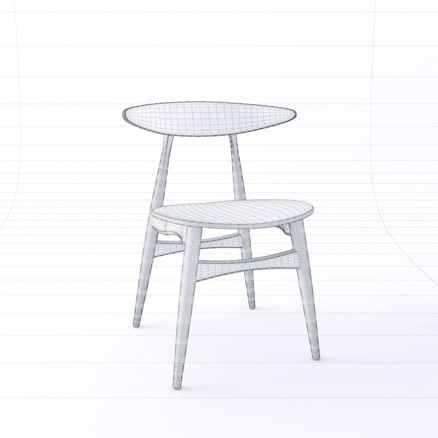 Cadeira CH33 por Hans Wegner royalty-free 3d model - Preview no. 7