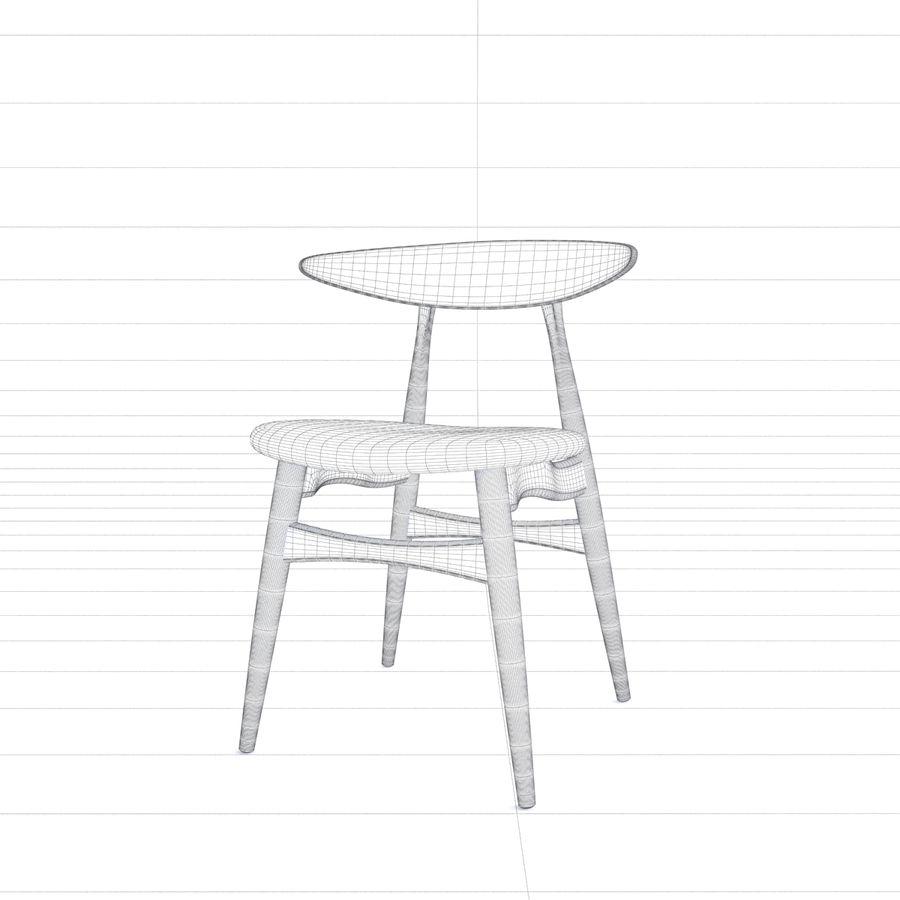 Cadeira CH33 por Hans Wegner royalty-free 3d model - Preview no. 8