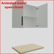 厨房家具垂直向上90厘米门 3d model