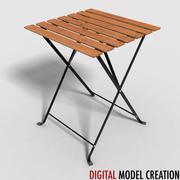 bistro table 01 3d model