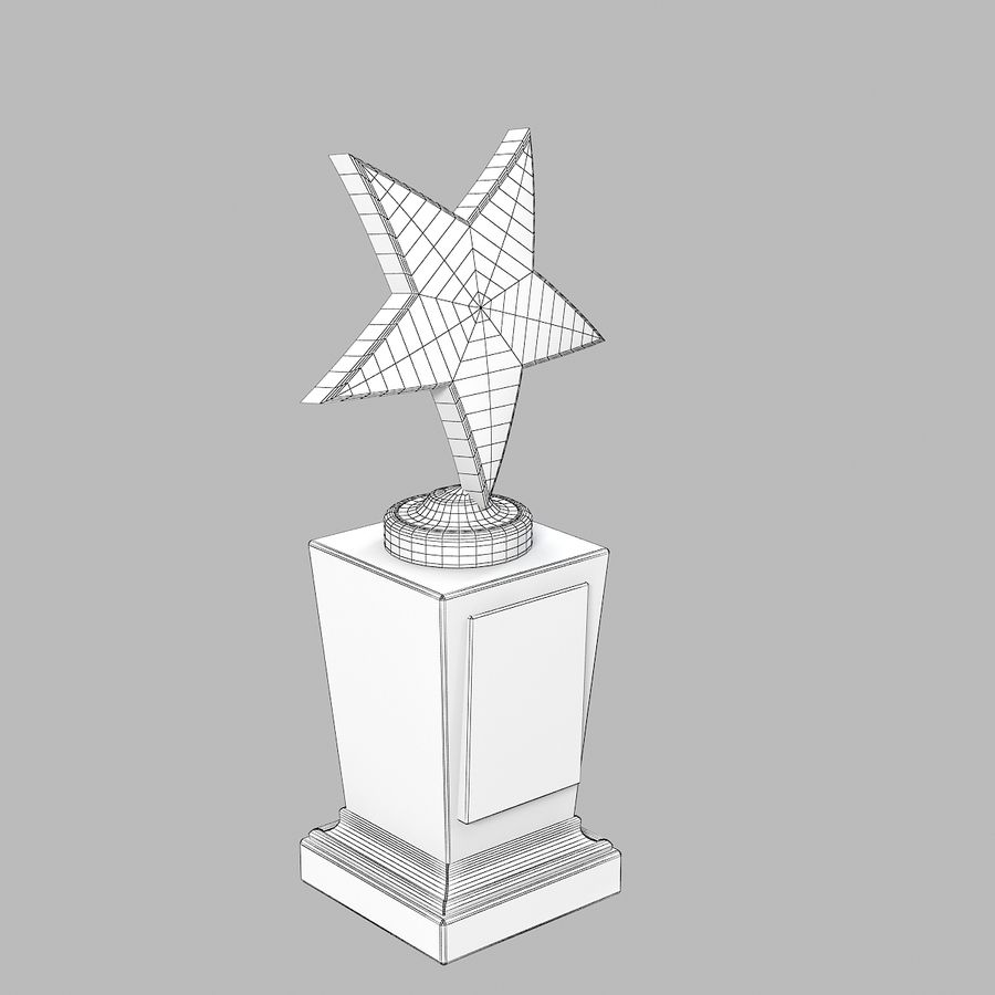 Star Prize Cup royalty-free 3d model - Preview no. 4