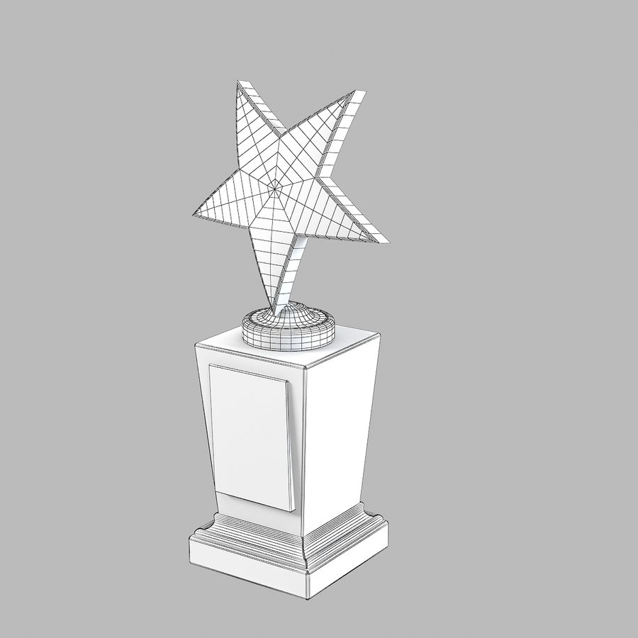 Star Prize Cup royalty-free 3d model - Preview no. 5