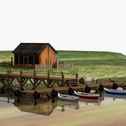 桟橋 3d model