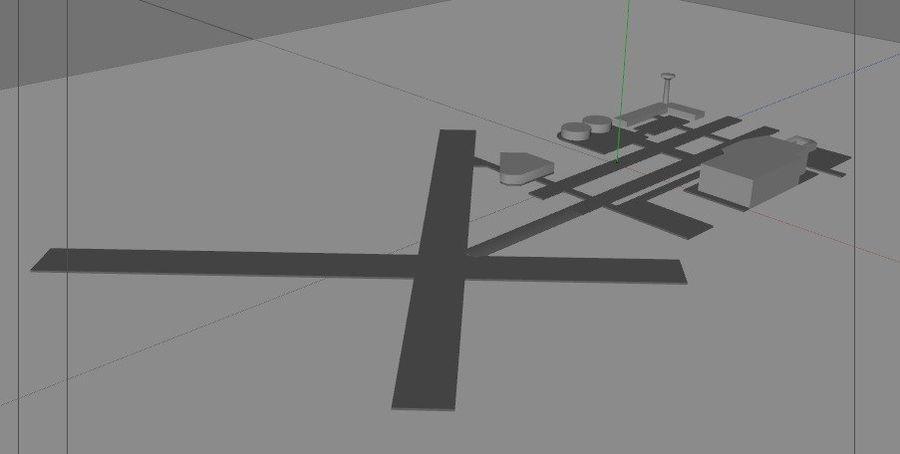 공항 lowpoly royalty-free 3d model - Preview no. 4