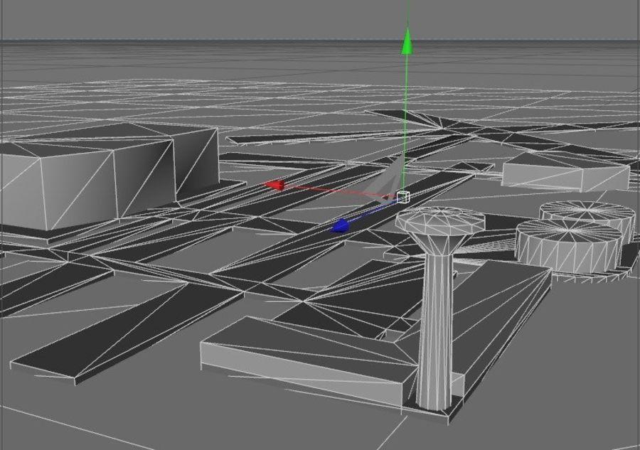 аэропорт lowpoly royalty-free 3d model - Preview no. 5