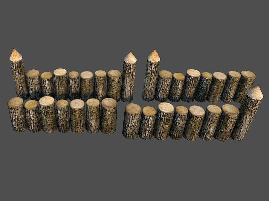 Clôture en bois royalty-free 3d model - Preview no. 3