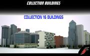 Collectie gebouwen 3d model