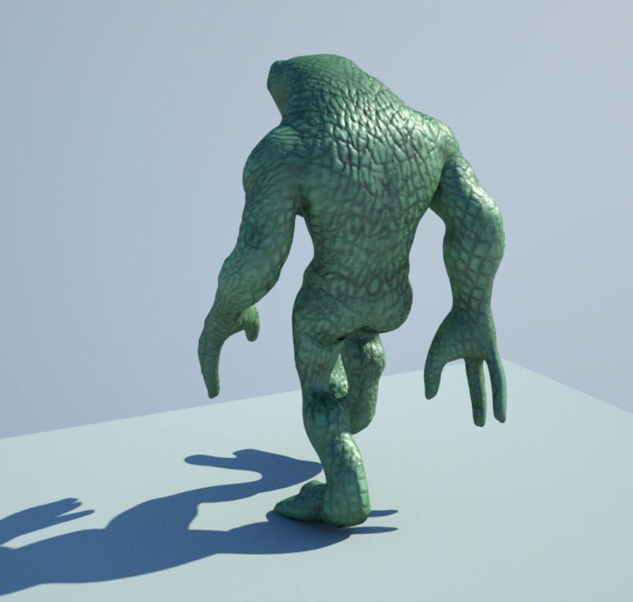 Reptile Alien Maya Rig royalty-free 3d model - Preview no. 3