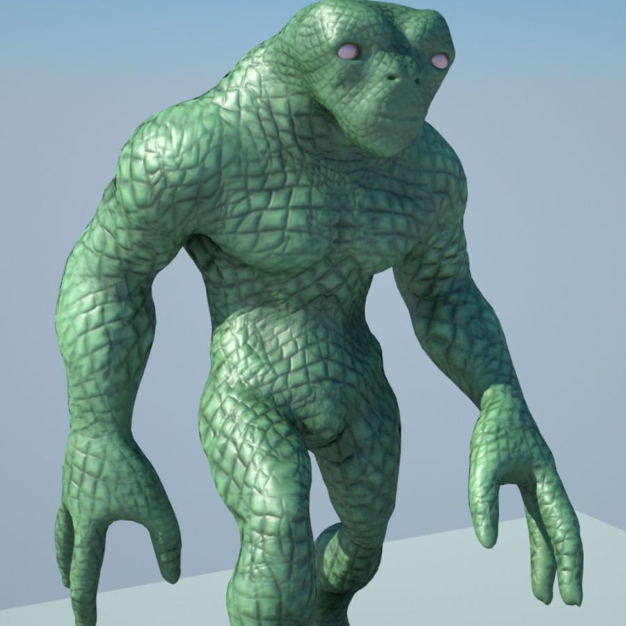 Reptile Alien Maya Rig royalty-free 3d model - Preview no. 4