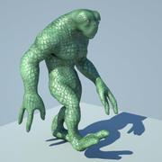 Reptil Alien Maya Rig modelo 3d