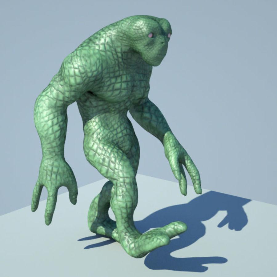 Reptile Alien Maya Rig royalty-free 3d model - Preview no. 1