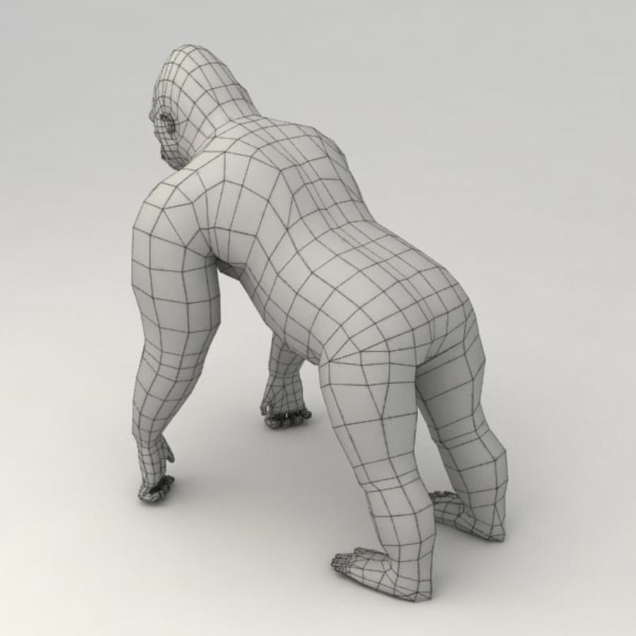 Gorilla rigged royalty-free 3d model - Preview no. 8