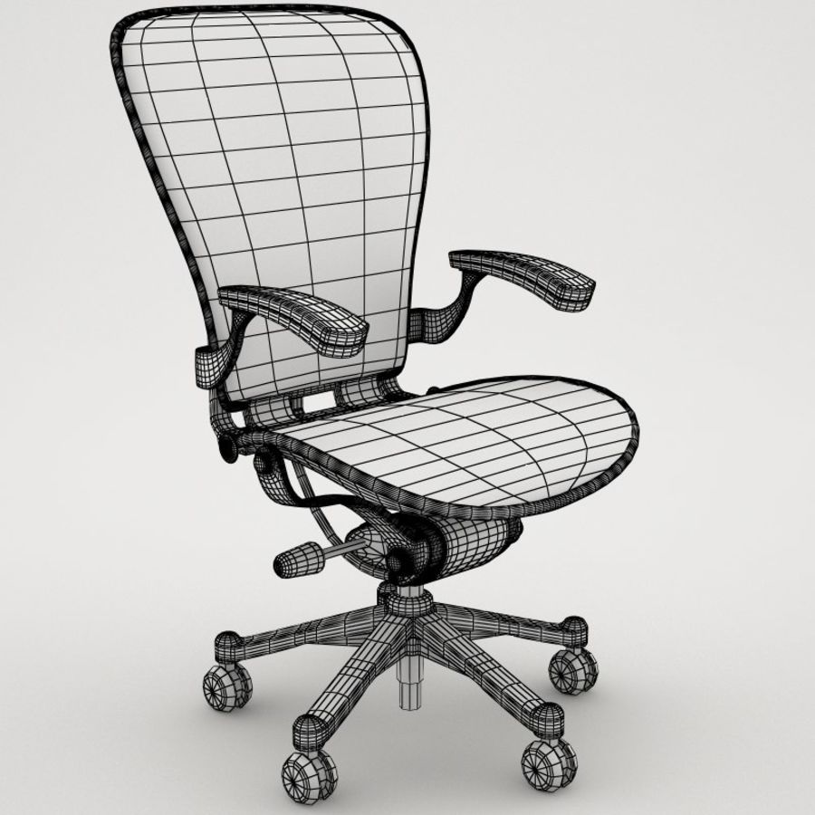 Desk chair royalty-free 3d model - Preview no. 7
