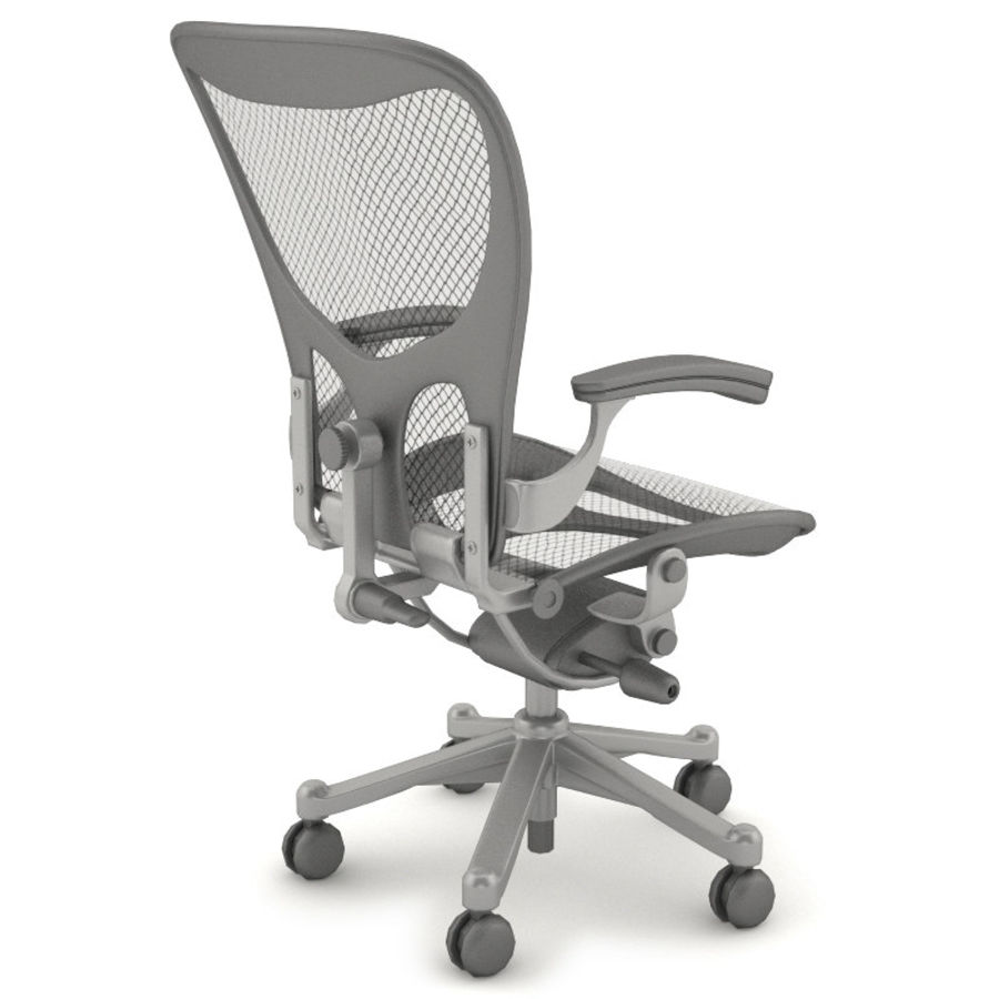 Desk chair royalty-free 3d model - Preview no. 3