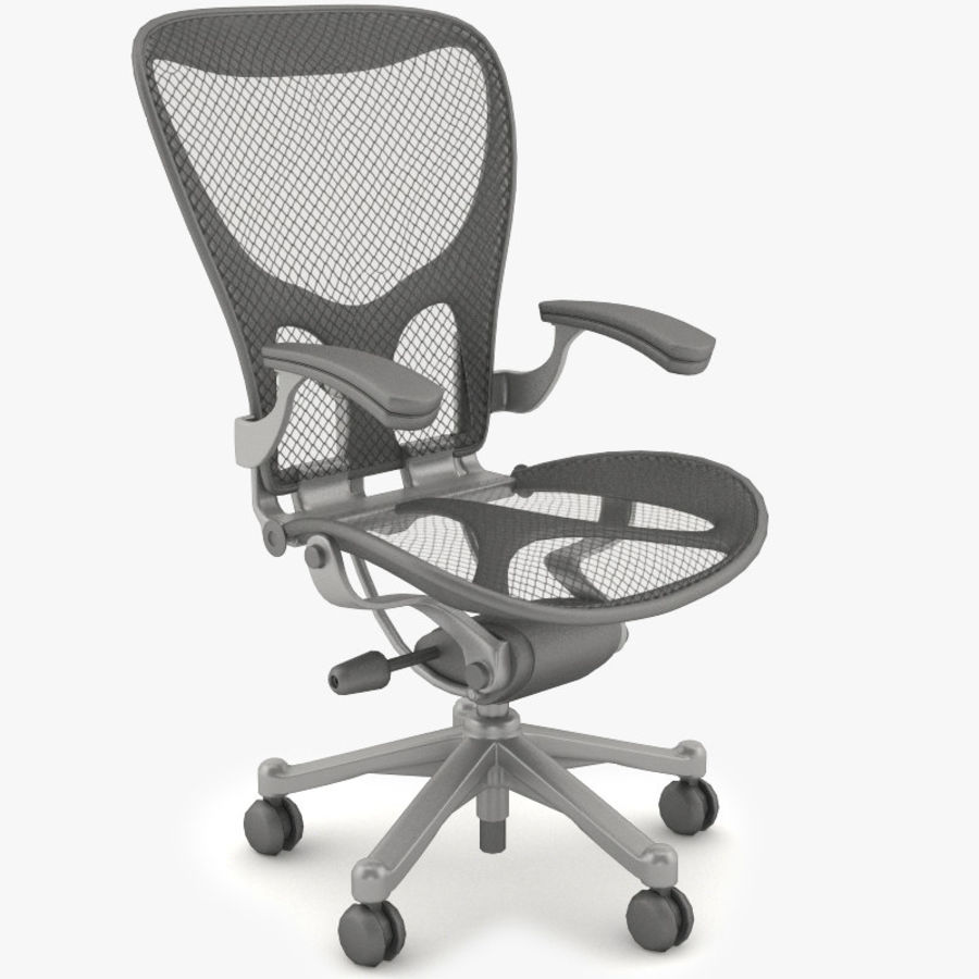 Desk chair royalty-free 3d model - Preview no. 1
