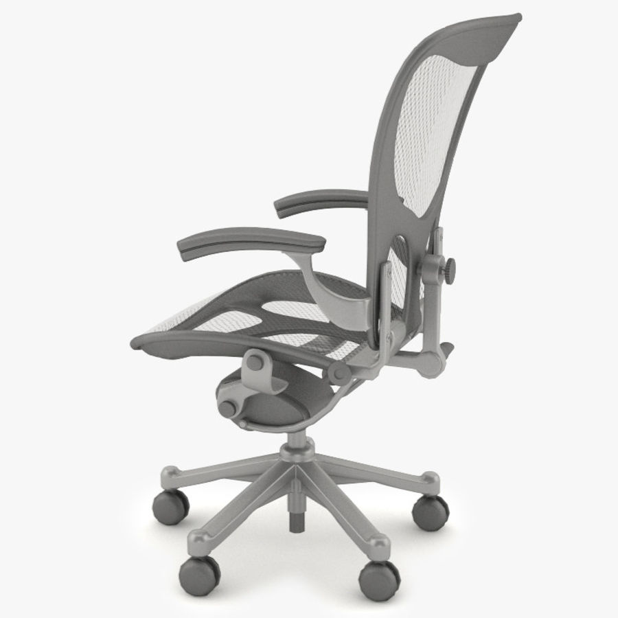 Desk chair royalty-free 3d model - Preview no. 5