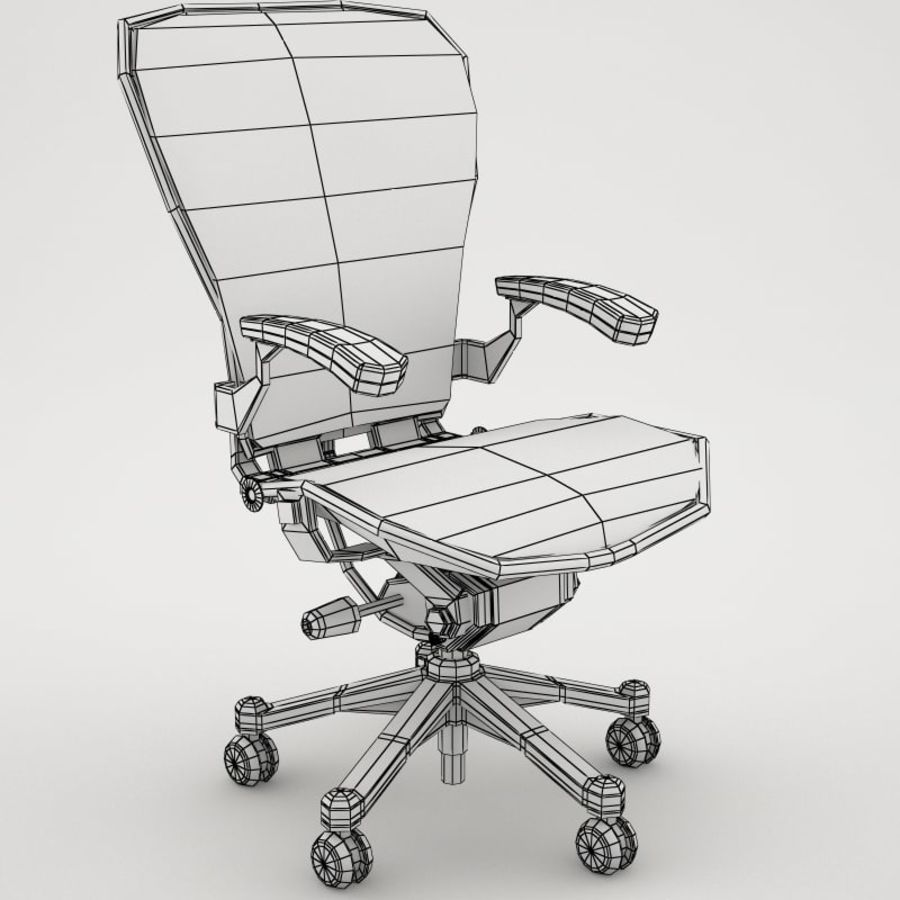 Desk chair royalty-free 3d model - Preview no. 6