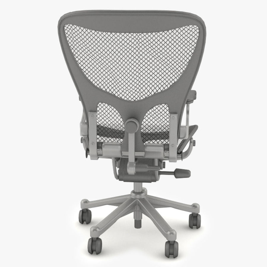 Desk chair royalty-free 3d model - Preview no. 4