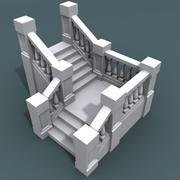 계단 0100 + 06 계단 3d model