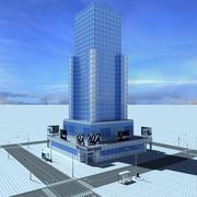 Byggnad 1 3d model