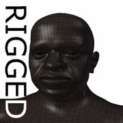 RIGGED Old black Man Base Mesh 3d model
