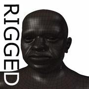 RIGGEDオールドブラックマンベースメッシュ 3d model