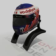 Jenson Button Helmet 2013 3d model