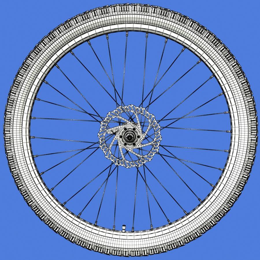 Mountain Bike Wheels + Tires royalty-free 3d model - Preview no. 20
