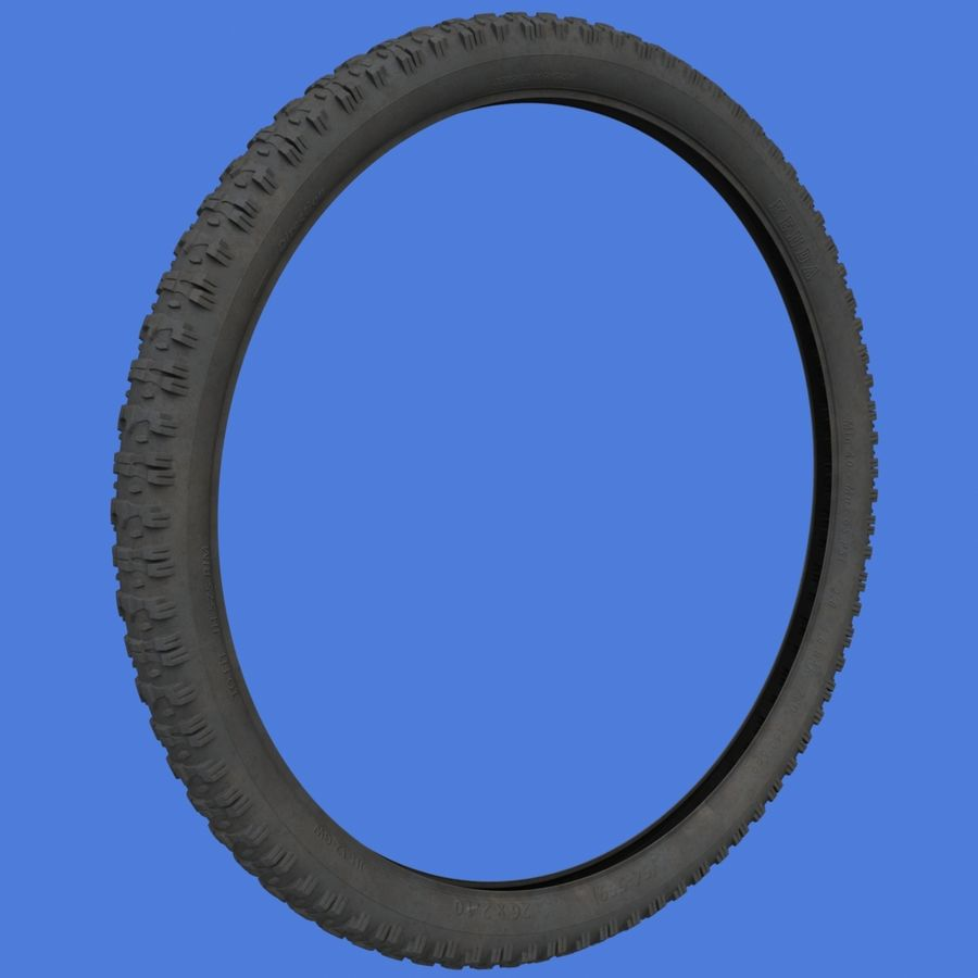 Mountain Bike Wheels with Tires royalty-free 3d model - Preview no. 10