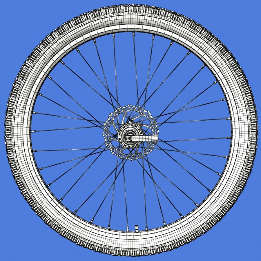 Mountain Bike Wheels with Tires royalty-free 3d model - Preview no. 19