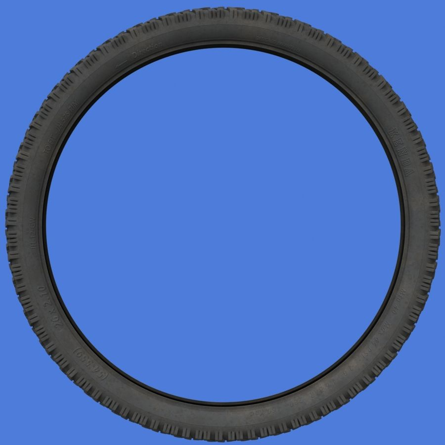 Mountain Bike Wheels with Tires royalty-free 3d model - Preview no. 8