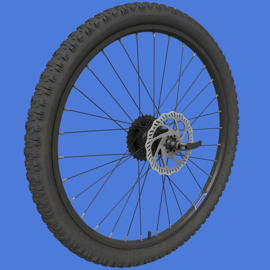 Mountain Bike Wheels + Tires royalty-free 3d model - Preview no. 2