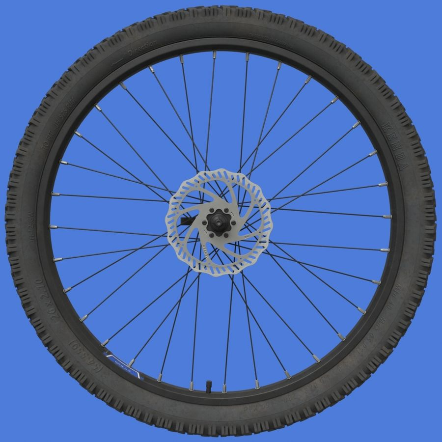 Mountain Bike Wheels with Tires royalty-free 3d model - Preview no. 6