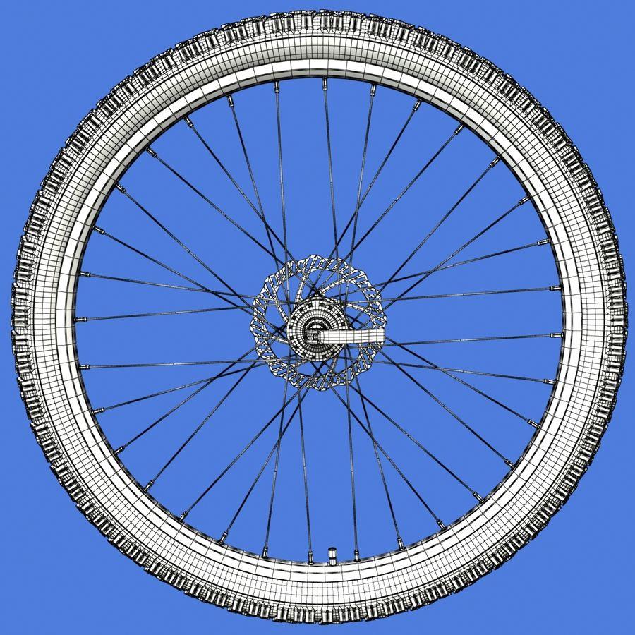 Mountain Bike Wheels + Tires royalty-free 3d model - Preview no. 21