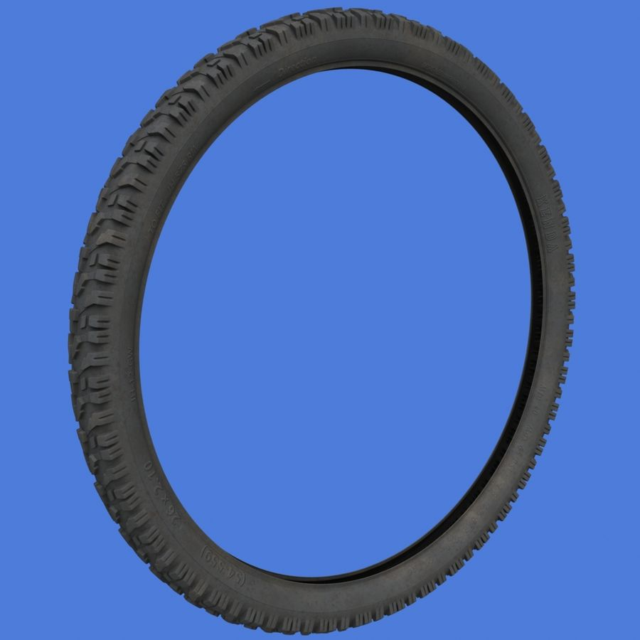 Mountain Bike Wheels with Tires royalty-free 3d model - Preview no. 11