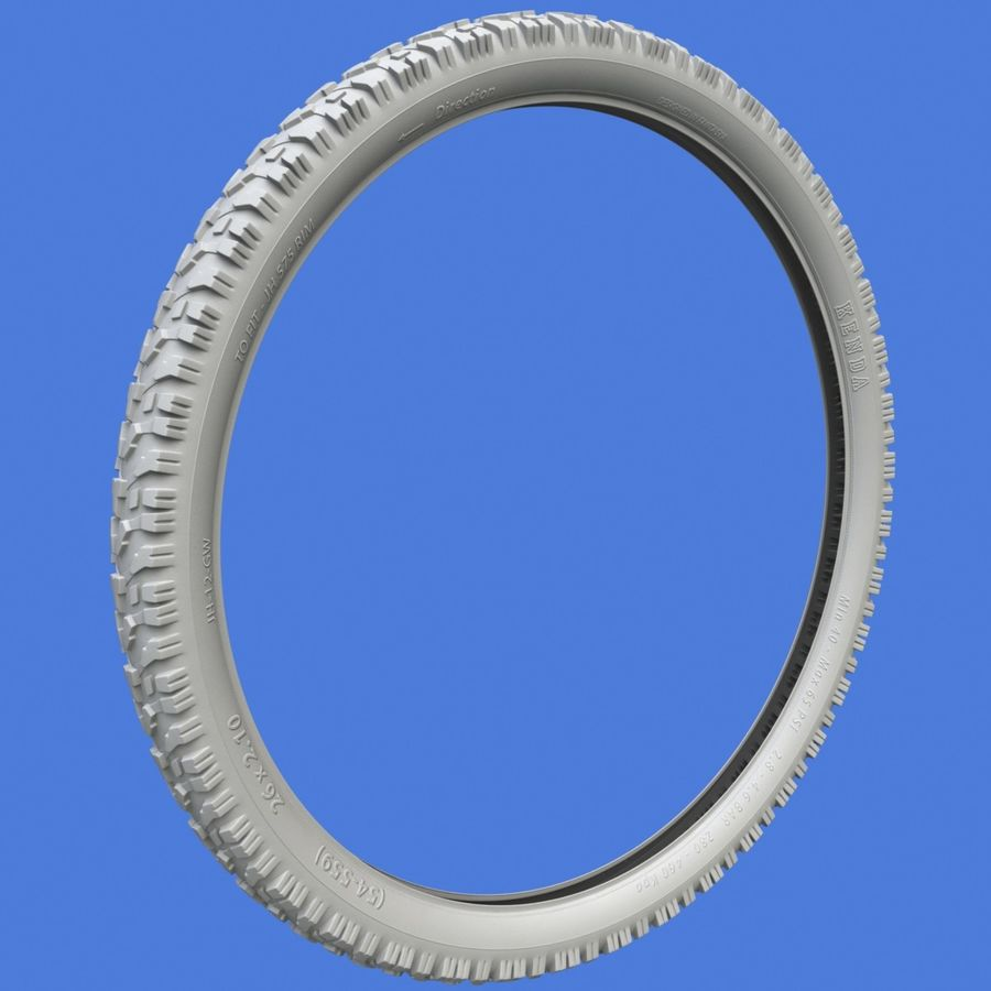 Mountain Bike Wheels + Tires royalty-free 3d model - Preview no. 14